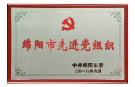 绵阳市先进党组织2018